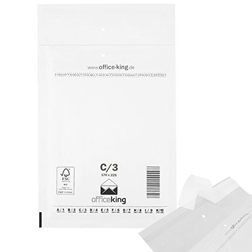 OfficeKing Luftpolstertaschen reißfest 100 Stk Weiss C/3 | DIN A5 | 170 x 225mm