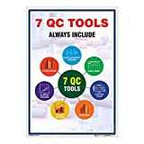 buysafetyposters.com - 7 QC Tools Inclusive Poster In English PVC Flex (A2, 18 inch X 24 inch, Multicolor)