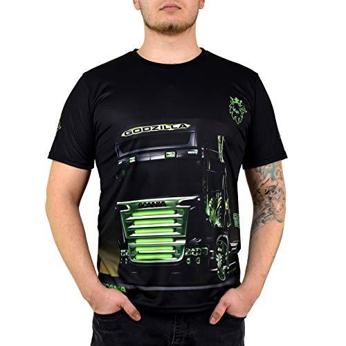 Herren Scania LKW v8 Rally Club Sport Fun Griffin Racing Auto car Fan Driver Truck T-Shirt Team (L)