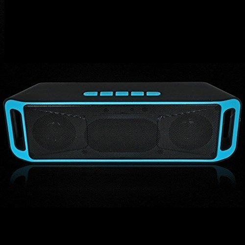 NAttnJf Altavoz Bluetooth, Portable USB Bluetooth 4.0Wireless HiFi Bass Altavoz estéreo con micrófono Integrado