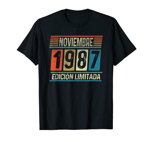 Noviembre 1987 34 años Vintage Regalo Cumpleaños Hombre Camiseta