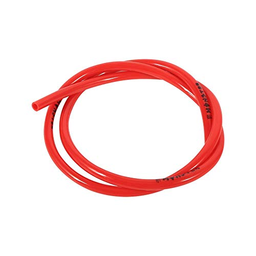 Colorful Gas Fuel Line Hose Tube Pipe Petrol 1/4 inch 3 feet For Motorcycle Dirt Pit Bike ATV Snowmobile PWC Jet Ski Polyurethane(Red)
