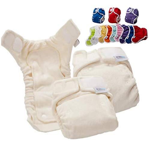 Bambinex Baby ** TestSet BAMBOO NATUR OneSize Stoffwindeln ** inkl. Überhose, Windelvlies, Einlagen und Co.