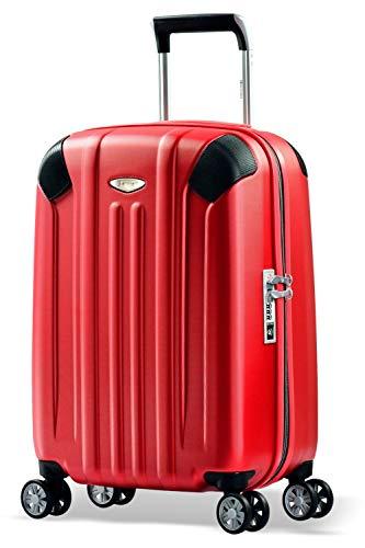 Eminent Bagaglio a mano Boulder 55cm 40L Valigia cabina ultra leggera 4 Ruote doppie silenziose Protezione addizionale dei bordi & Lucchetto TSA Rosso