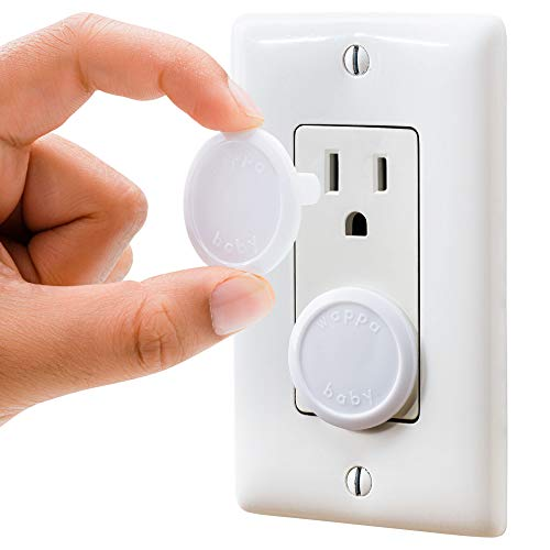Outlet Covers Babyproofing 50-Pack by Wappa Baby | Safe & Secure Electric Plug Protectors | Sturdy Childproof Socket Covers for Home & Office | Easy Installation | Protect Toddlers & Babies | White