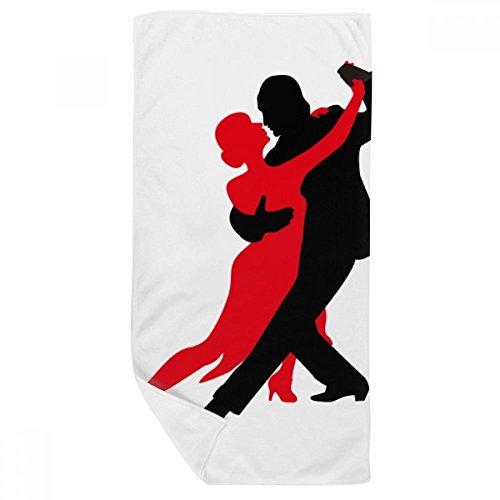 DIYthinker Danseur Danse Duo Danse Sociale Serviette de Bain Doux Gant de Toilette Gant de Toilette 35X70Cm 35 x 70cm Multicolor