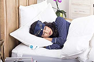 Siberian 800 Fill Power 100% White Goose Down Pillow | Has The Perfect Level of Softness & Firmness | Great for Side, Back & Stomach Sleepers. (Queen)