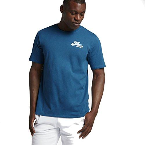NIKE M NSW Hybrid JDI Camiseta, Hombre, Azul (Industrial Blue/White), S