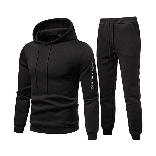 Mens Sweat suits 2 Piece Tracksuit Sets Casual Comfy Camo Jogging Suits for Men Sports Suit Activewear