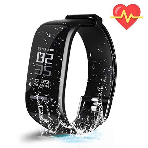 UWATCH Fitness Tracker,Fitness Armbanduhr Wasserdicht Fitness Tracker HR mit Herzfrequenz/Schlafanalyse/Kalorienzähler/Aktivitätstracker Schrittzähler - Smart Fitness Armband Android IOS