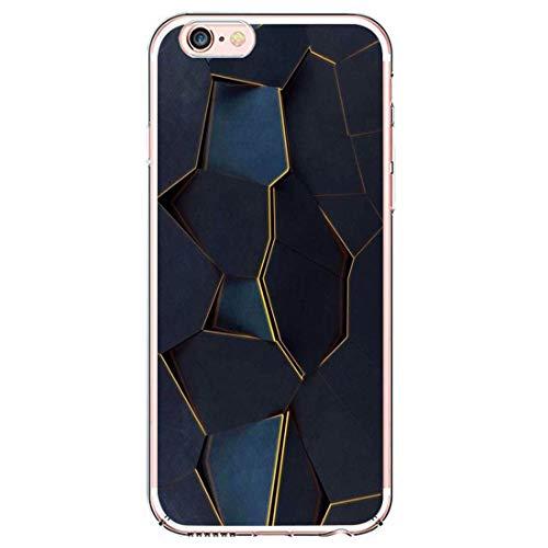 Coque de protection pour iPhone 6S - Motif marbre - En silicone souple - Mince - Ultra fine - Flexible - Anti-jaunes - Pour iPhone 6S - Multicolore - Taille Unique