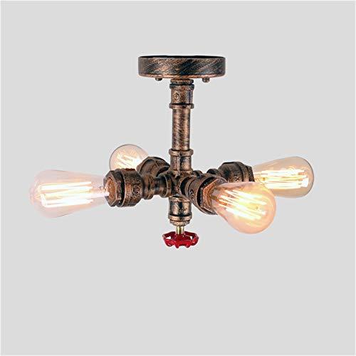 UWY Lámpara de Techo Vintage Lámpara de Techo Retro Lámpara de araña de 4 Luces Lámpara Colgante E27 Metal para Sala de Estar Comedor Dormitorio Cocina Mesa Tienda Restaurante