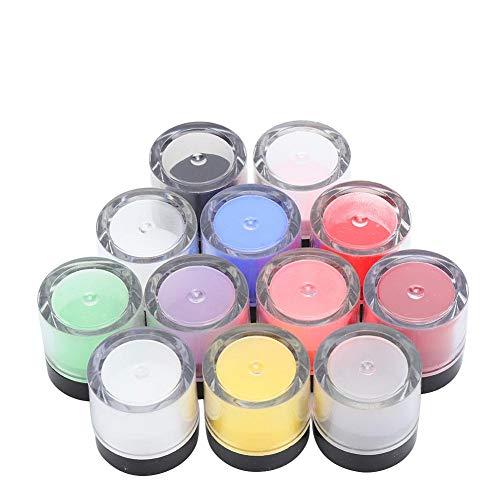 Acrylique Poudre Nail Acrylique Poudre Set Cristal Nail Art Conseils Décoration Builder Acrylique Manucure Accessoires pour Nail Salon et Maison(12 couleurs)