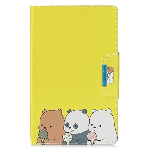 KM-WEN - Funda para Tablet Apple iPad Pro (10,5 Pulgadas), diseño de Libro, Color Negro Color-6 Samsung Galaxy Tab A SM-T510/T515