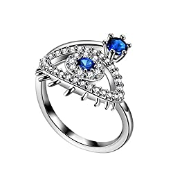 """❤ This protective evil eye ring will not only protect your spirit, but also your style! Wearing this evil eye ring is a """"Luck Charm"""" believed to """"reflect evil"""" and thereby protects a person who wears it against misfortune. The evil eye is a shield th..."""