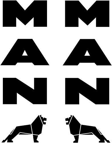 myrockshirt 2X Man Schriftzug mit Logo Löwe LKW Truck je ca 25cm Typ2 Aufkleber,Sticker,Decal,Autoaufkleber,UV&Waschanlagenfest,Profi-Qualität