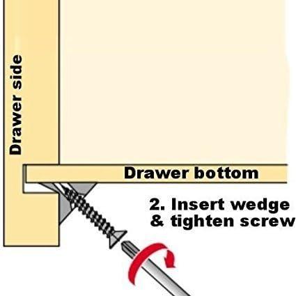 Tiroirs fond Réparation Affaissement Support Fix Fixation Réparer Réparer Wedge Vis