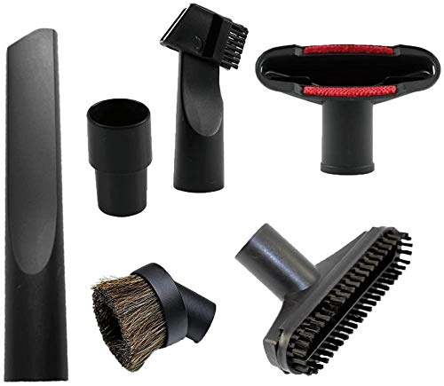 ZUZZEE Juego de 6 accesorios para manguera de vacío central, cepillo de limpieza, boquilla para grietas, para manguera estándar de 32 mm a 35 mm