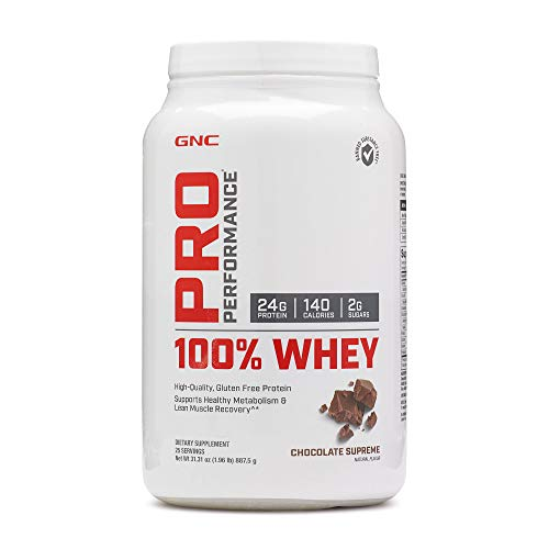 GNC Pro Performance 100% Whey Protein Powder - Chocolate Supreme, 25 Servings, Supports Healthy Metabolism and Lean Muscle Recovery