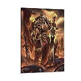 DRAGON VINES Póster de World of Warcraft, diseño de elfo de sangre, 20 x 30 cm