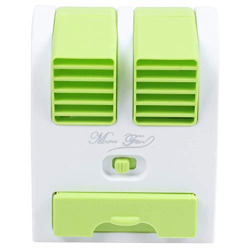 LIPENLI Pequeño USB Ventilador de refrigeración portátil de Escritorio de Dos sin Cuchilla de Aire Acondicionado