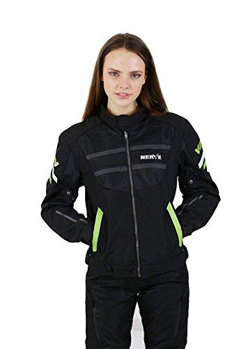 Nerve Cool Slight Jacke, Schwarz/Grün, XL