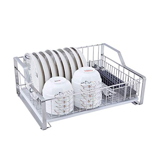 MUMUMI Organizador de estantes de cocina Estante de almacenamiento de pie con bandeja Bandeja de desagüe del recipiente de acero