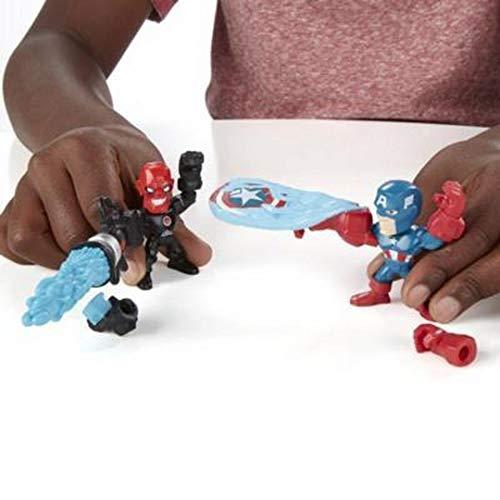 MARVEL Figuras Super Hero Mashers Micro , pack 2 , Modelos/colores Surtidos, 1 Unidad
