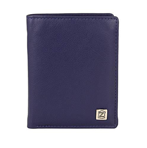 Zerimar Cartera Cuerpos Seguridad | Portaplaca Desmontable | 9 Compartimentos | Cartera Portaplaca | Color: Azul Marino | Medidas: 9 x 11,5 cm