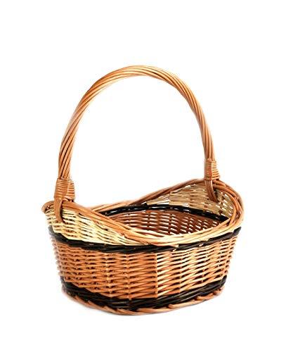 PM24 K1-410 - Cesta de mimbre para la compra o picnic, estable,...