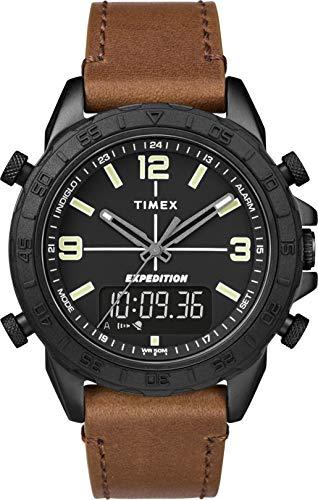 Timex Reloj Analógico-Digital para Hombre de Cuarzo con Correa en Cuero TW4B17400