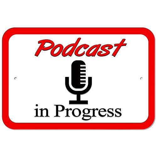 WENNUNA Metalen bord Podcast in Progress Microfoon 8