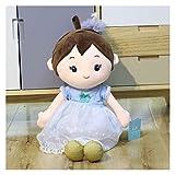 Peluche poupée 55cm enfants peluche couple poupées bébé gilrs garçons poupées poupées pelutées jouets douces festival festival pour enfants (Color : Blue dress girl, Size : 55cm)