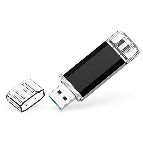 RAOYI Chiavetta USB C 64GB Doppia, 2-IN-1 64 GB Chiave USB 3.0 OTG Tipo C Pendrive, Memoria Stick Compatibile con PC, Matebook D, Dell XPS, Android Smartphone con Type C, Xiaomi/Oneplus (Nero)