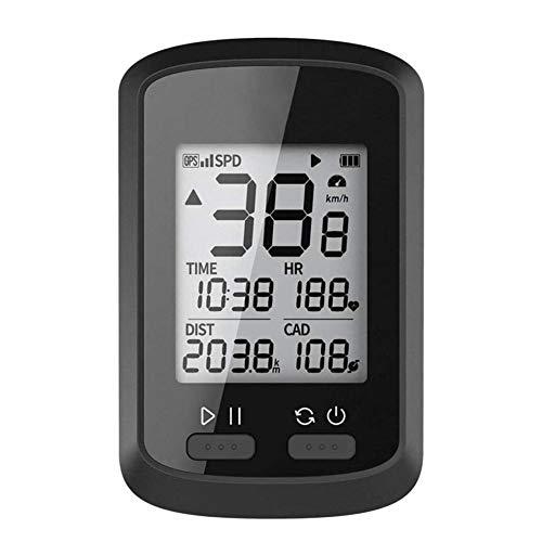 Sarple ciclocomputador con Pantalla LCD XOSS G + GPS ciclocomputador cronómetro IPX7 Cuentakilómetros Impermeable para Bicicleta de Carreras, MTB, Bicicleta