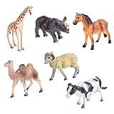 TOYMYTOY 6 Piezas de Figuras de Animales Salvajes Juguetes Realistas de Modelos de Animales de La Selva Juguetes Educativos