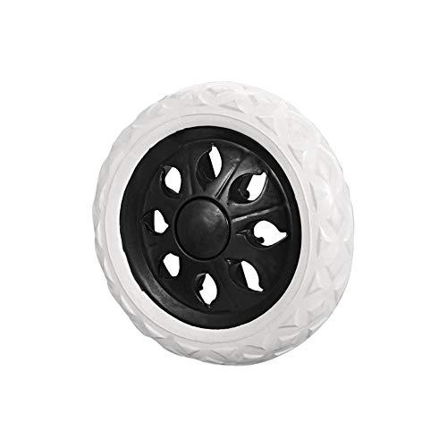 PRINDIY Einkaufswagen Räder Ersatzgummischaum 6,5 Zoll Durchmesser Laufrolle