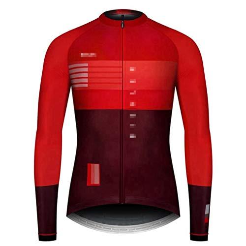 ZWW BIEHLER 2020 Top Qualität Herren Radtrikot Langarm festen Sitz Fahrrad Trikots Rennrad Fahrradbekleidung Tops (Color : 10, Größe : XS)