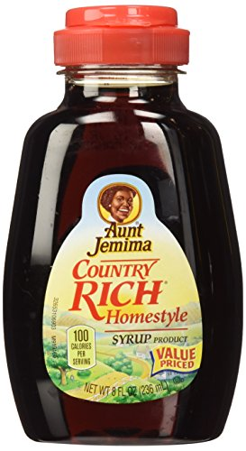 Aunt Jemima Syrup Country Rich Homestyle 8oz Container Pack of 3