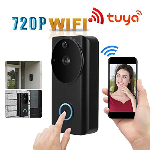 Draadloze deurbel, 720P HD intelligente anti-diefstal deurtelefoon WiFi video-intercom nachtzicht thuis anti-diefstal deurbel