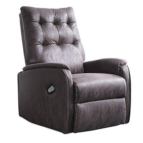 Adec - Swing, Sillón Relax Elevador Lift levantapersonas, tapizado en Tejido Color Chocolate Vintage, butaca Descanso, Medidas: 70 cm (Ancho) x 77 cm (Fondo) 111 cm (Alto)