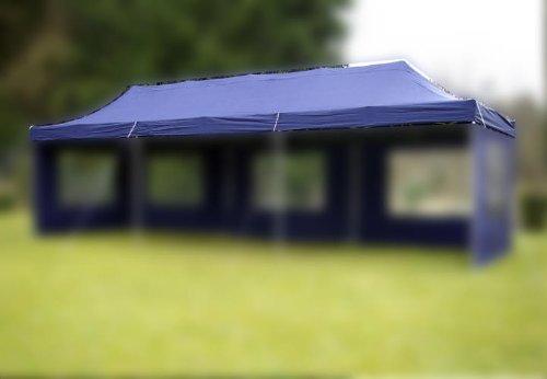 Nexos Pavillondach Ersatzdach Wechseldach für Profi Falt-Pavillon 3x9m - Dachplane 270g/m² PVC-Coating versiegelte Nähte wasserdicht – Farbe: blau