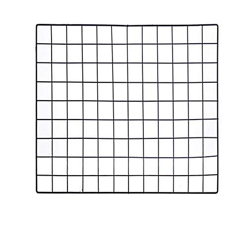 ShouYu DIY Grid Panel Foto Wand,Ins Mesh Wand,Multifunktion Gitterwand Deko,Memo Brett Organisator Regale (60×60cm,Schwarz)
