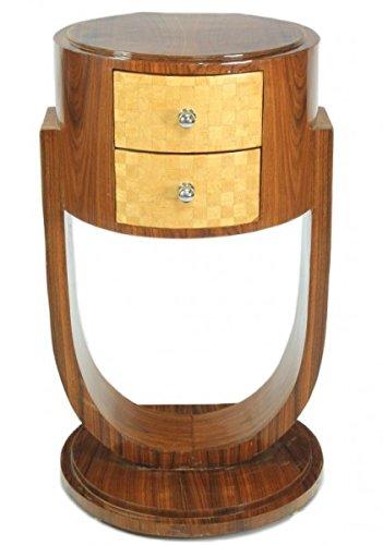 Casa Padrino Art Deco Schubladen Schrank Mahagoni - Handgefertigt aus Massivholz - Nachtschrank...
