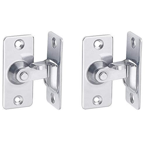 90 Degree Right Angle Lock Bolt cam Lock for Sliding Door barn Door Safety Angle Latch(2PC)