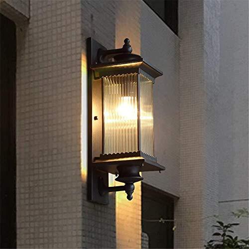 Apliques de Pared Moderno Vintage Industrial Sala de Estar Dormitorio Pasillo Baño Aplique de Pared Puerta Exterior Luz de jardín Balcón Exterior Lámpara de Pared PasilloEvolutions