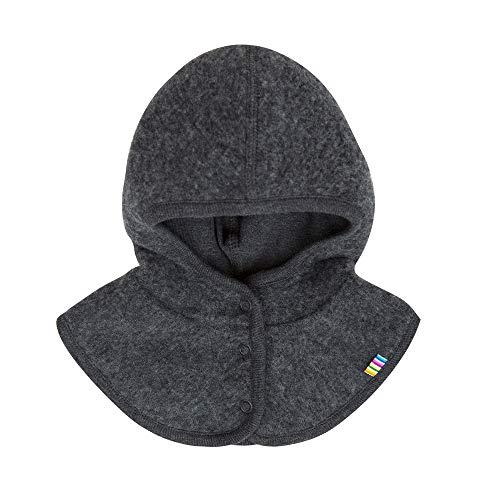 Joha Baby Kinder Unisex Schalmütze aufknöpfbar Balaclava Merino-Wolle, Größe:45, Farbe:koks Melange
