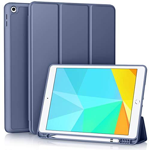 Vobafe Funda Compatible con Nuevo iPad 8ª Generación 2020/ iPad 7ª Generación 2019, Plegable Soporte Protectora TPU Cubierta con Portalápiz para iPad 10.2