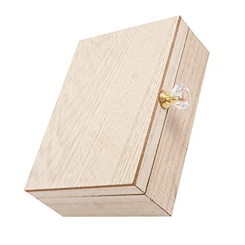 SOIMISS Caja de Anillo de Madera Mr Y Mrs Soporte de Anillo de Madera Anillo de Compromiso Doble Caja de Almacenamiento Caja de Reloj Organizador de Exhibición de Joyería para La