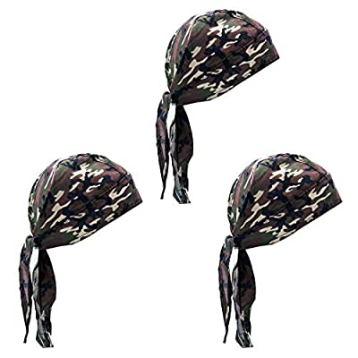 Elephant Brand Skull Caps – 100% Cotton in Patterned Plain Colors, Pack of 3